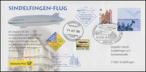 Sindelfingen-Flug Zeppelin NT D-LZFN mit SSt FRIEDRICHSHAFEN 24.10.2003