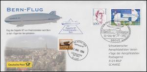 Bern-Flug Zeppelin NT Luftschiff D-LZZF mit SSt FRIEDRICHSHAFEN 22.5.04