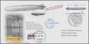 Luftschiffspost DKL 109 Zepplin NT Zeppeiln-Briefmarke, ESSt BERLIN 1.3.2007
