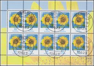 2434 Blume Sonnenblume 95 Cent - Kleinbogen Tagesstempel BERLIN 28.3.06