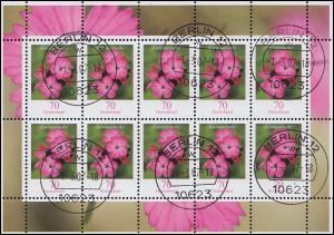 2529 Blume Kartäusernelke 70 Cent - Kleinbogen Tagesstempel BERLIN 1.3.07