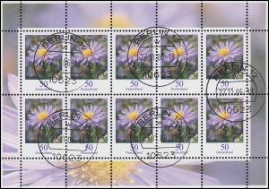 2463 Blume Herbstaster 50 Cent - Kleinbogen Tagesstempel BERLIN 27.11.06