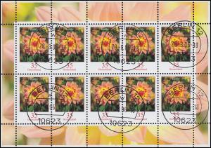 2505 Blume Dahlie 35 Cent - Kleinbogen Tagesstempel BERLIN 28.8.06