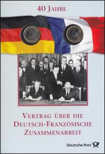 Numis-Faltblatt 40 Jahre Vertrag über die Deutsch-Französische Zusammenarbeit