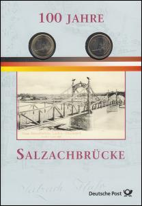 Numis-Faltblatt 100 Jahre Salzachbrücke