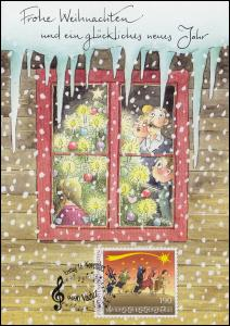 Liechtenstein 1788 Weihnachten - Grußkarte zum Jahreswechsel 2016