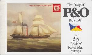 Großbritannien-Markenheftchen 80 The Story of P & O 1987 - HAFNIA **