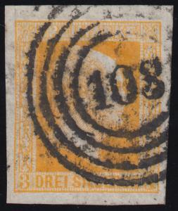 Preußen 8 König Friedrich Wilhelm IV., Nummernstempel 103, gut gerandet