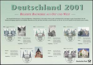 Deutschland 2001: Dokumentation Briefmarken mit Doppelnominalen SWK und Frauen