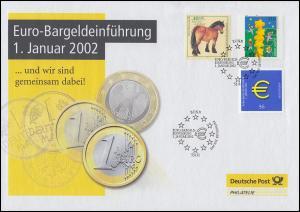 2234 Euro-Bargeldeinführung 2002 - Dokumentation mit SSt BONN 1.1.2002