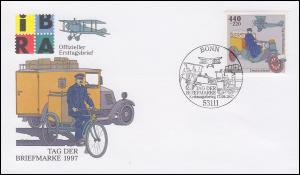 1947 Tag der Briefmarke aus Block 41 auf Schmuck-FDC ESSt BONN 17.9.1997