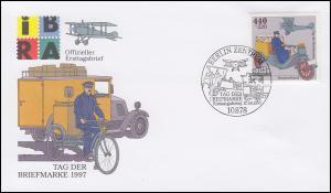 1947 Tag der Briefmarke aus Block 41 auf Schmuck-FDC ESSt BERLIN 17.9.1997