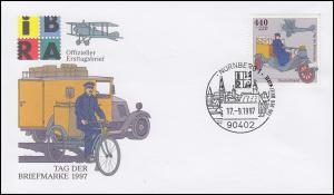 1947 Tag der Briefmarke aus Block 41 auf Schmuck-FDC ESSt NÜRNBERG 17.9.1997