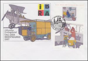 Block 41 Tag der Briefmarke Posttransport Schmuck-FDC ESSt NÜRNBERG 17.9.1997