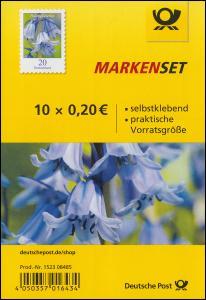FB 83 Blume Hasenglöckchen 20 Cent, Folienblatt mit 10x3432, postfrisch **