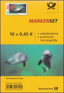 FB 84 Der Schweinswal, Folienblatt mit 10x3437, postfrisch **