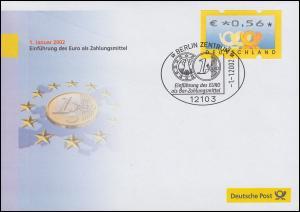 Euro-Einführung: SSt Berlin 1.1.2002: Einführung des Euro als Bar-Zahlungsmittel
