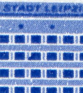 1126+1129 Zusammendruck aus Block 23 INTERMESS III mit PLF 1129 blauer Fleck, **