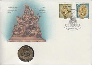 DDR-Numisbrief Zeughaus Berlin 5-Mark-Gedenkmünze ESSt Berlin 6.3.90