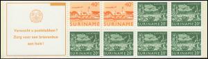 Surinam Markenheftchen 4 Luftpostmarken 40 und 20 Ct., Verwacht ... 1978