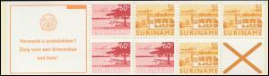 Surinam Markenheftchen 5 Luftpostmarken 5 und 60 Ct., Verwacht ... 1978