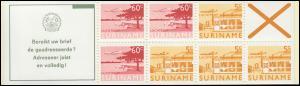 Surinam Markenheftchen 6 Luftpostmarken 60 und 5 Ct., Bereikt ... 1978