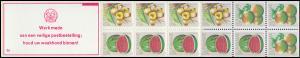 Surinam Markenheftchen 9 Obst Fruit 5,10,35 Ct., PB 6a Werk ... 1980