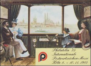 APHV-Sonderdruck Philatelia Köln Eisenbahn Personenabteil 1985