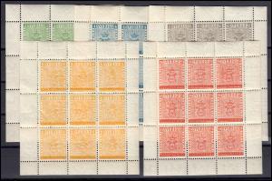 406-410 Schweden Briefmarken STOCKHOLMIA 1955 - Kleinbogen-Satz, postfrisch **