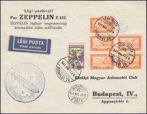 LZ 127 Zeppelinrundfahrt Budapest 27.3.31 als FDC für die violette 479 ZP