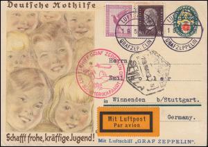 Zeppelinpost Südamerikafahrt Luftschiff Graf Zeppelin 19.5.30 über Sevilla 19.5.