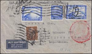 Deutsche Luftpost Europa-Südamerika Lp-Brief HAMBURG 8.5.1935 nach Argentinien