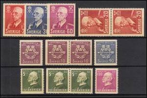 297-303 Schweden-Jahrgang 1943 komplett, postfrisch **