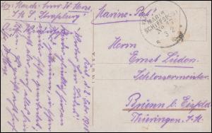 DEUTSCHE MARINE-SCHIFFSPOST No 47 - 3.2.1916(?) SMS Straßburg, AK Kiel