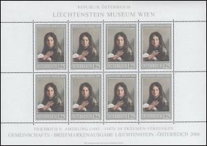2574 Gemälde von Friedrich von Amerling 2006 - kompletter Kleinbogen, **