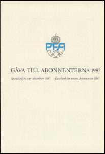 Schweden PFA-Jahresgabe 1987: Zirkuskunst, ungezähnt, nicht frankaturgültig