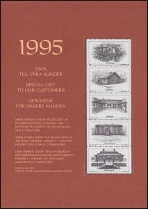 Schweden PFA-Jahresgabe 1995: Schwedische Häuser, Schwarzdruck / Sonderdruck