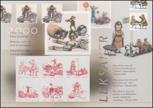 Schweden PFA-Jahresgabe 2000: Spielzeug, Satz als Schwarzdruck / Sonderdruck