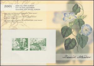 Schweden PFA-Jahresgabe 2001: Daniel Solander, Schwarzdruck / Sonderdruck