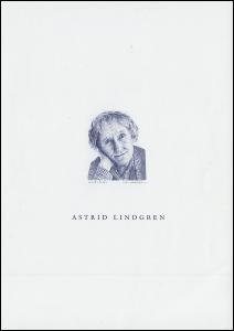 Schweden 2278 Astrid Lindgren - als Schwarzdruck 2002, nicht frankaturgültig