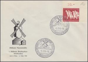 215 Vertreibung Eckstück auf Schmuck-Umschlag Dülkener Narrenmühle SSt 5.3.56