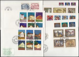 792-722 Liechtenstein-Jahrgang 1978 komplett auf FDC mit ESSt Vaduz