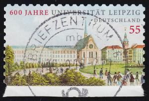 2747Uu Uni Leipzig aus Folienblatt: unten nicht durchgestanzt, nur angedeutet, O