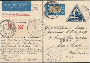 KLM-Rückflug Postjager Batavia-Amsterdam per Einschreiben ab BUITENZORG 3.1.1934