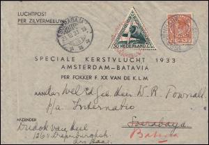 KLM-Flugpost Zilvermeeuw/Pelikaan Amsterdam-Soerabaja-(Batavia) 18.12.1933