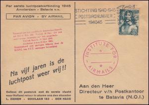 KLM-Erstflug nach dem 2.WK Amsterdam - Batavia per DC-4 (NL-300) 10.11.1945