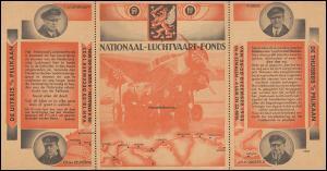 KLM-Flugpost: Postgiro-Zahlkarte NATIONAAL-LUCHTVAART-FONDS 1933, ungebraucht