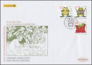 3357-3359 Der Froschkönig, Schmuck-FDC Deutschland exklusiv