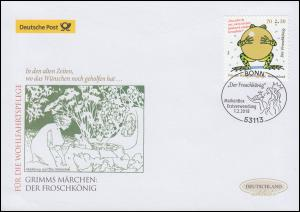 3364 Der Froschkönig 70 Cent, selbstklebend, Schmuck-FDC Deutschland exklusiv
