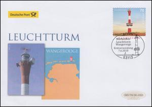 3396 Leuchtturm Wangerooge, selbstklebend, Schmuck-FDC Deutschland exklusiv